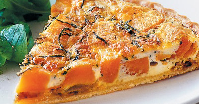 Кишрецепт с кабачками и сыром