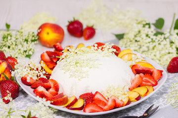 Десерты без выпечки - купол с ягодами 1