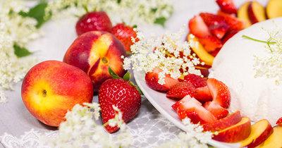 Десерты без выпечки - купол с ягодами