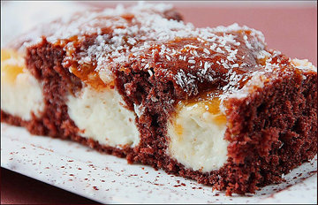 Оформление тортов. Торт с творожными шариками 2