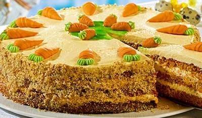 Приготовление тортов рецепты из овощей. Морковный торт