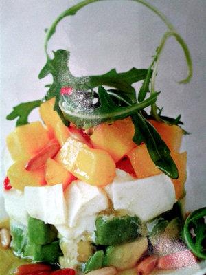 Салат с моцареллой и авокадо 1