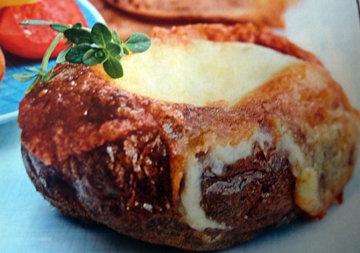 Сырное фондю в картофеле 1