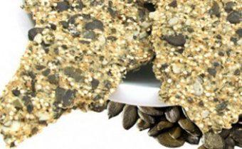 Постное тесто - крекеры рецепт с семечками