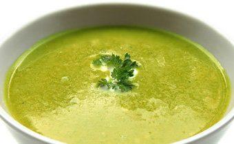 Постный суп со шпинатом и облепихой