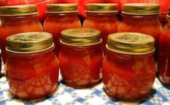 Помидоры в томатном соке по-итальянски