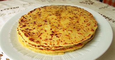 Рецепт блинов без яиц Lefse