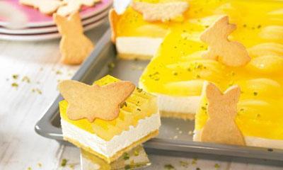 Пирожное из печенья с грушами