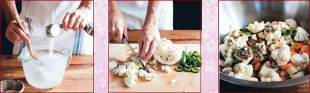 Последовательность закладки овощей для ферментации. Таблица 1