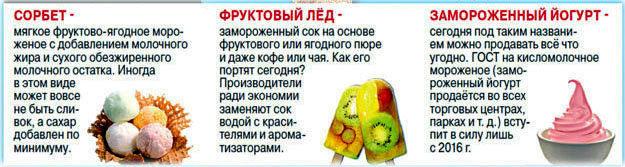 5. мороженое