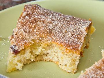 Картофельный пирог пекут из теста для штоллена и картофеля