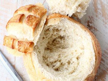 сыр в духовке с хлебом Цветок 1