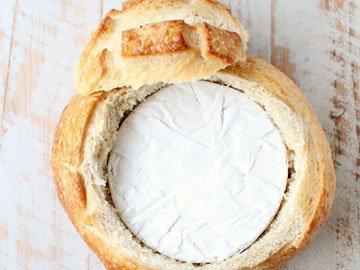 сыр в духовке с хлебом Цветок 2