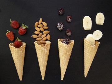 разные сорта мороженого
