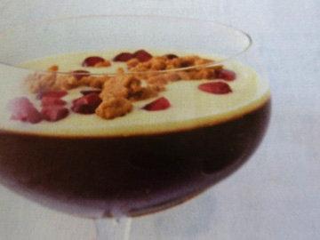 Кофейное желе с соусом