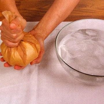 как сформовать моцареллу - метод ледяная баня 2