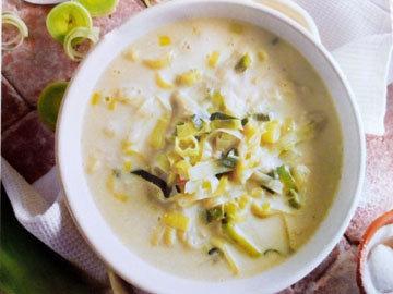 Карамелизированный суп с пореем