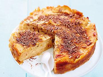 Пирог без муки с грушей и шоколадом