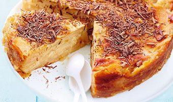 Пирог без муки с грушей