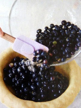 Пирог пай со сладкой начинкой (ягоды черники) 10