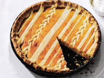 Пирог пай с овощной начинкой (тыква)