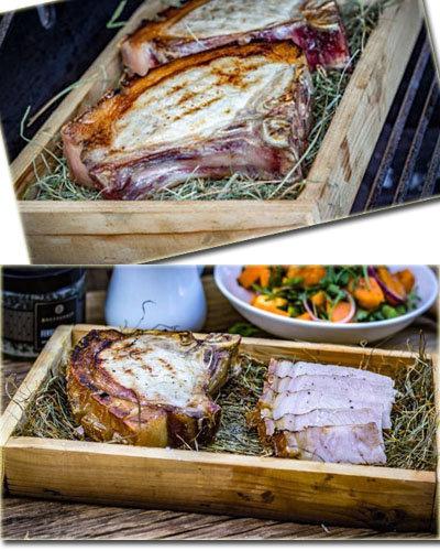 Свиной стейк - готовим в сене 2