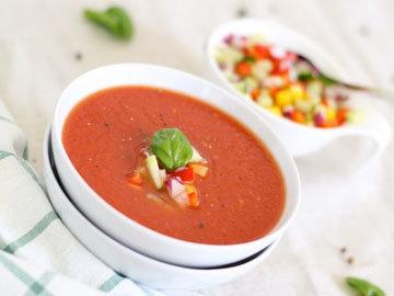 Томатный суп с арбузом