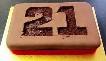 Торт на День рождения с цифрами 2