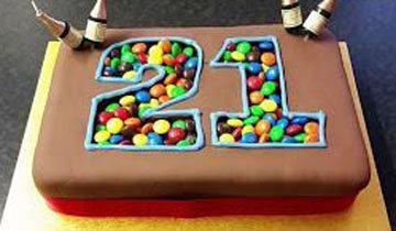Торт на День рождения с цифрами