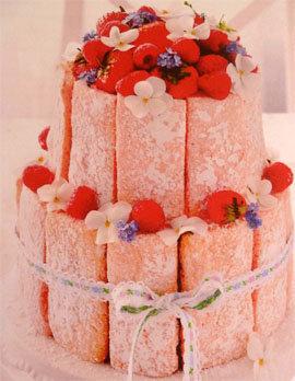 Шарлотка с ягодами - праздничный большой торт