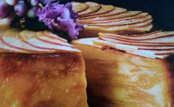 Яблочный пирог без муки с ромом