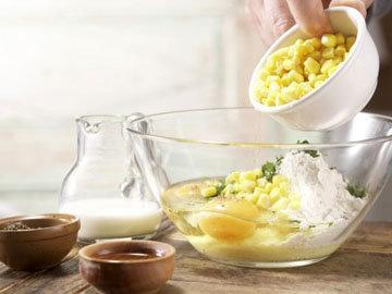 Кулинарный мастер класс Кукурузные оладьи 3