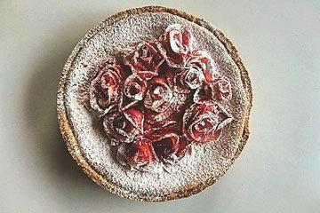 Лучший в мире творожный пирог с яблочными розами