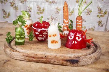 Овощи на Хэллоуин