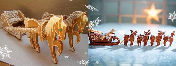 Картинках Сани с оленями