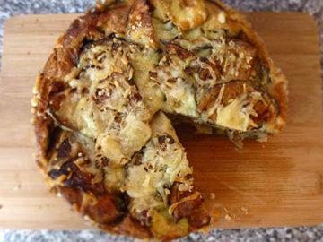 Пирог. С баклажанами и кабачками