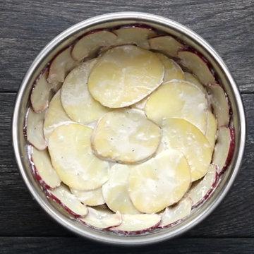 7. еще 2 слоя желтого картофеля