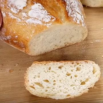 Хлеб получился с крепкой хрусткой коркой