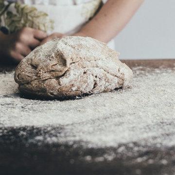2. Как обработать тесто до 5-ти минутного хлеба