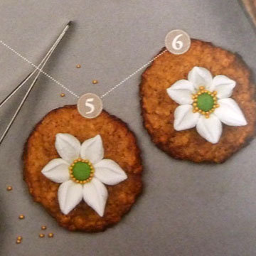 Мастер класс Овсяное печенье украшение цветы ветреницы 5