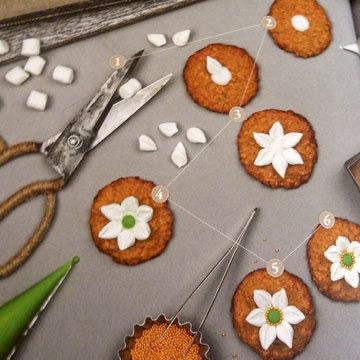 Мастер класс печенье украшение цветы ветреницы