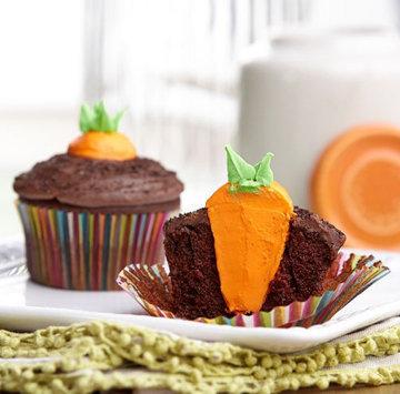 Капкейки Морковка 2