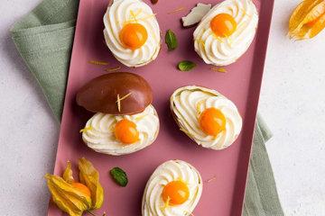 Десерт с абрикосами