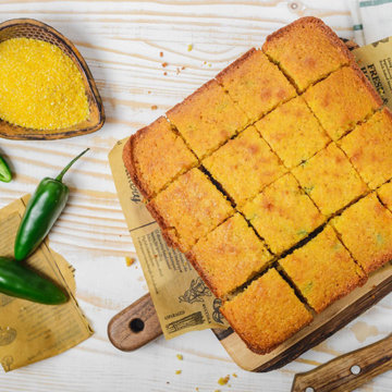 Кукурузный хлеб - очень легкий хлеб
