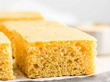 Кукурузный хлеб с пахтой без жира