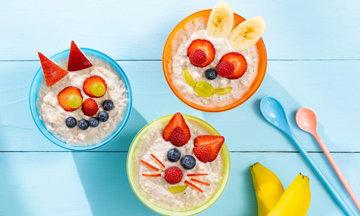 Завтрак. Яблочно-коричный порридж с йогуртом
