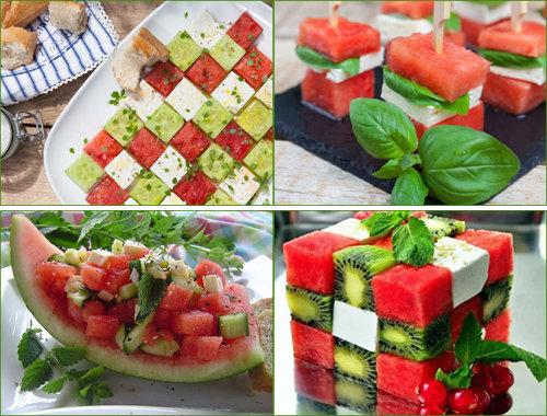Как подать салат с арбузом