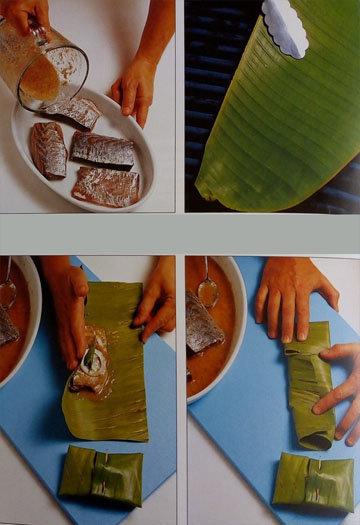 Кулинарный мастер класс Запеченная рыба в банановых листьях на гриле