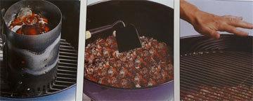Приготовить гриль с углями