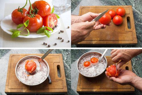 Очистить помидоры